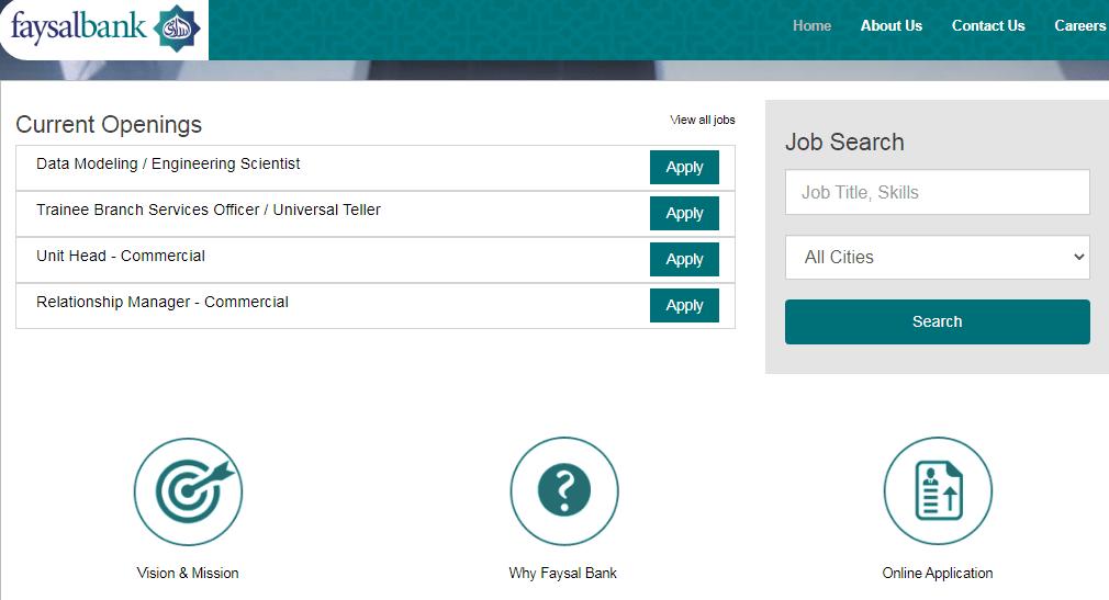 Faysal Bank Limited Karachi Jobs 2021 Apply Online