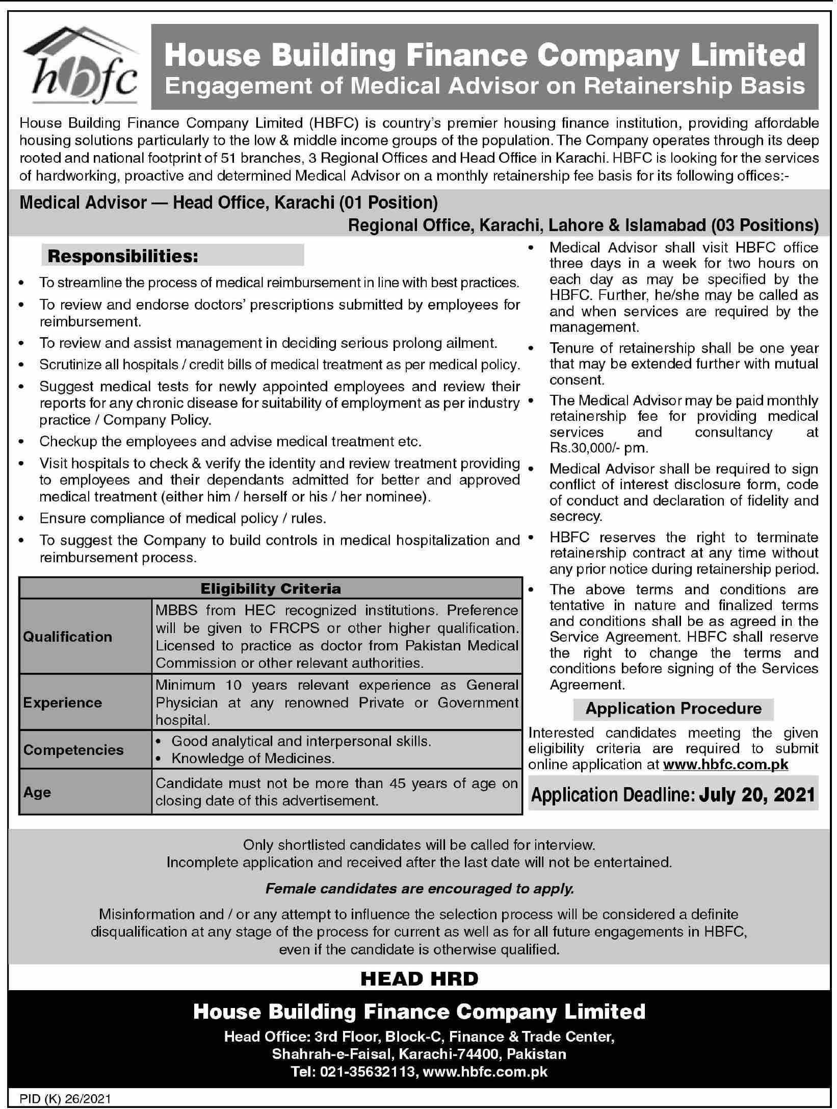 House Building Finance Company Jobs June 2021 for medical Advisor