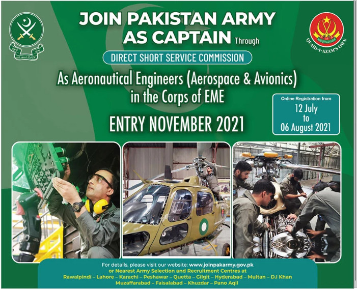 Join Pakistan Army as Captain Through Direct Short Service Commission Entry November 2021