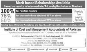 Merit Based Scholarships 2021 for Position Holder