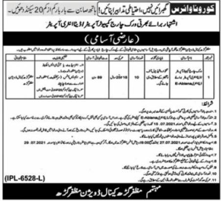 Punjab Irrigation Department Muzaffargarh Jobs 2021