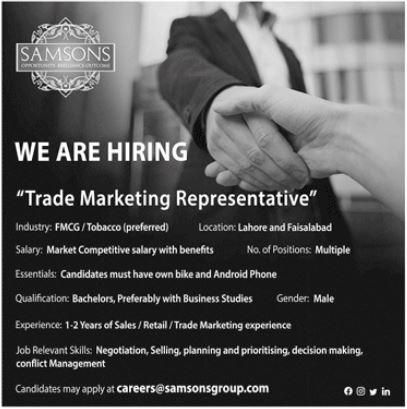 Samsons Group of Companies Lahore Jobs 2021