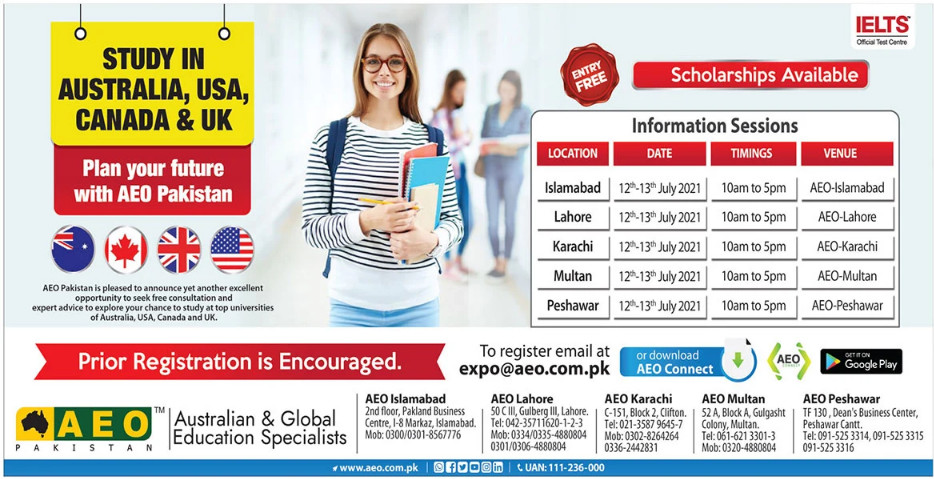 Study in Autralia USA Canada and UK Scholarship Registration 2021